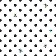 DOT BACKGROUND WITH HOUSE-FLY