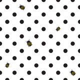 DOT BACKGROUND WITH BEETLE