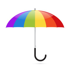 Colorful Vector Umbrella Illustration
