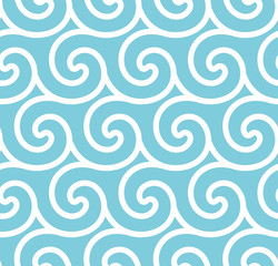 Abstract spiral vector seamless background