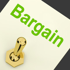 Bargain Switch Shows Discount Promotion Or Markdown