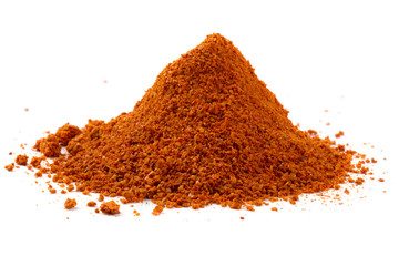 Heap ground paprika isolated on white background
