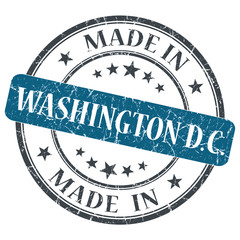 made in Washington DC blue round grunge isolated stamp