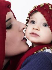 Madre e hija asiáticas