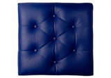 Six diamond padded blue leather board
