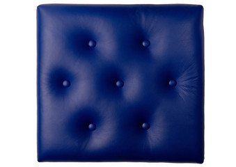 Seven button padded blue leather board