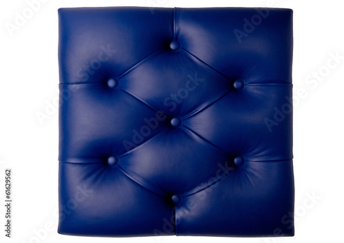 two diamond padded blue leather board