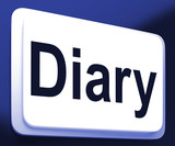 Diary Button Shows Online Planner Or Schedule