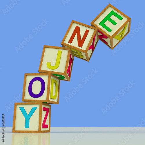 Enjoy Blocks Mean Recreation Play Or Fun