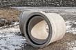 Leinwandbild Motiv Grosse Rohre aus Beton