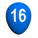 16 Balloon Shows Sweet Sixteen Birthday Party