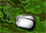 soldier's token for camouflage fabrics