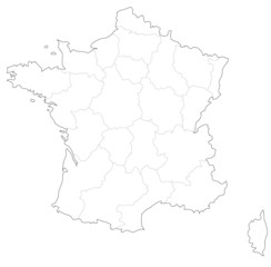 フランスの地図