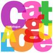 """Mosaïque de Lettres """"CATALOGUE"""" (produits recherche a-z tarifs)"""