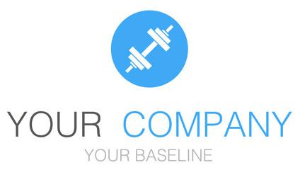 Fitness Logo Blue