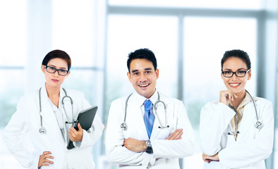 Group of smiling doctors