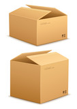 Cardboard boxes for packing and mail delivery. Eps10 vector