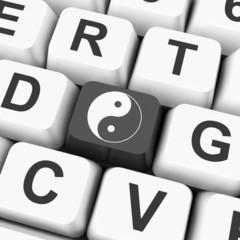 Ying Yang Key Means Spiritual Peace Harmony