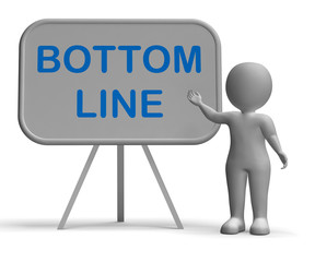 Bottom Line Whiteboard Shows Reduce Costs Grow Income