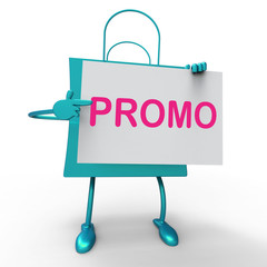 Promo Bag Shows Discount Reduction Or Save