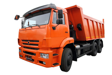 The orange lorry