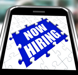 Now Hiring Smartphone Means Job Vacancy And Recruitment