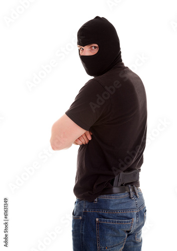 robber on the white background