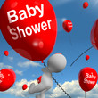 Baby Shower Balloons Shows Cheerful Parties and Festivities