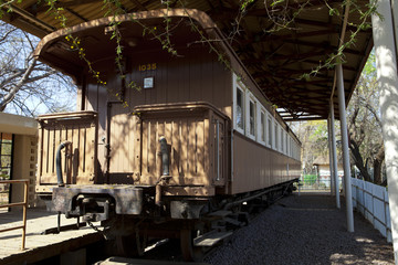 Old train in Botswana