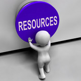 Resources Button Means Funds Capital Or Staff