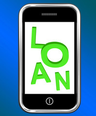 Loan On Phone Means Lending Or Providing Advance