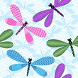 Seamless blue spring pattern