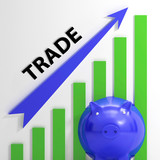 Trade Graph Shows Growth In Markets And Share Value