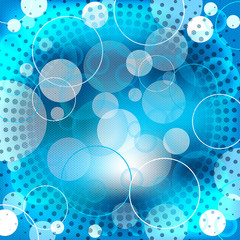 Abstract blue background design with shapes