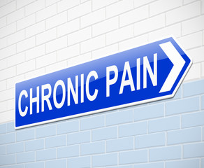 Chronic pain concept.