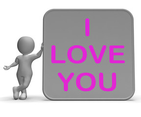 I Love You Sign Shows Loving Partner Or Family