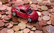 voiture sur pièces d'euro