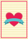 Retro heart-label