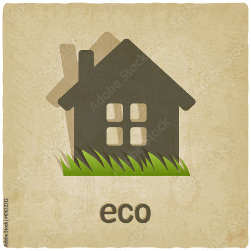 eco house old background