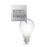 business strategy light bulb illustration design