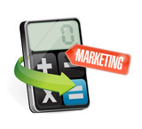 calculator marketing sign illustration design