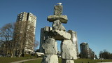 English Bay Inukshuk and Towers, Vancouver