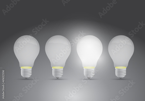 set of ideas. one bright ideas illustration design