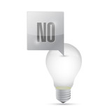 not a great idea light bulb. illustration design