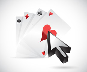 cards and cursor. illustration design