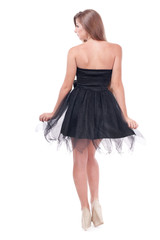 beautiful girl in a dress.