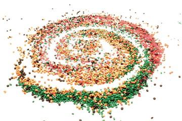 Spirale grunuli di plastica