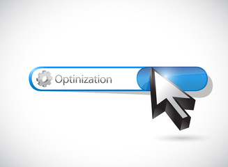 optimization gear search bar. illustration design