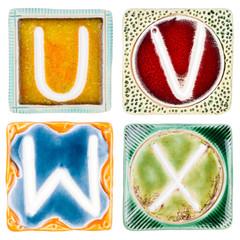 Handmade ceramic letters