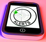 Alerts Smartphone Means Phone Reminder Or Alarm